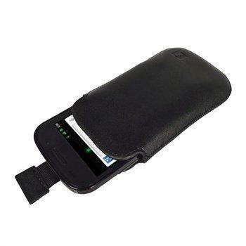 iGadgitz nahkakotelo Samsung Google Nexus S -puhelimelle Musta