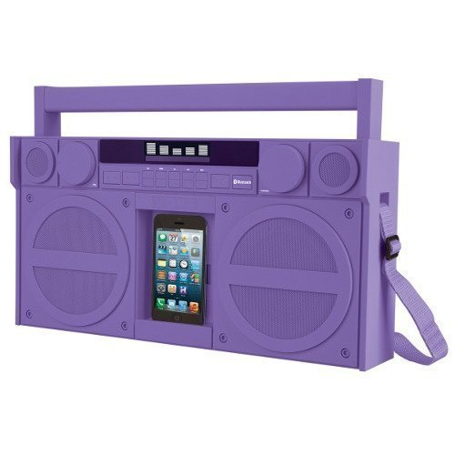iHOME iBT44 FM BoomBox XL Purple