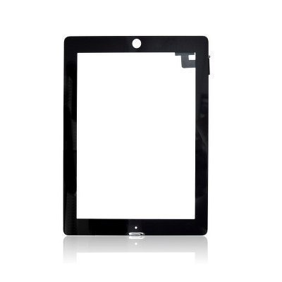 iPad 2 Kosketuspaneeli Digitizer Home napilla ja tarroilla Musta