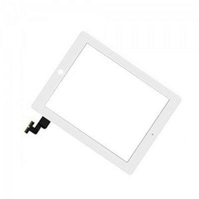 iPad 2 Kosketuspaneeli Digitizer Home napilla ja tarroilla Valkoinen