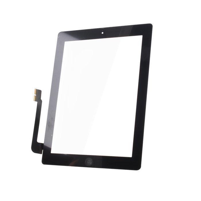 iPad 3 Kosketuspaneeli Digitizer Home napilla ja tarroilla Musta