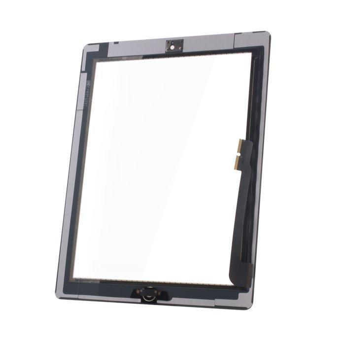 iPad 3 Kosketuspaneeli Digitizer Home napilla ja tarroilla Valkoinen