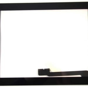iPad 4 Kosketuspaneeli Digitizer Home napilla ja tarroilla Musta