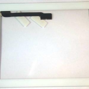 iPad 4 Kosketuspaneeli Digitizer Home napilla ja tarroilla Valkoinen