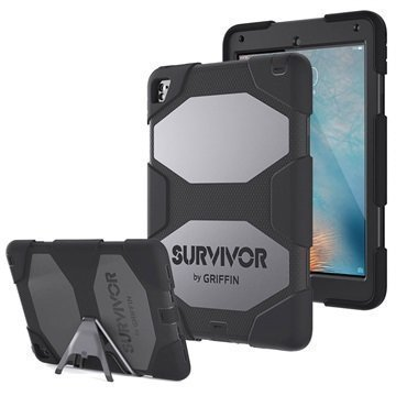 iPad Pro 9.7 Griffin Survivor All-Terrain Suojakotelo Musta