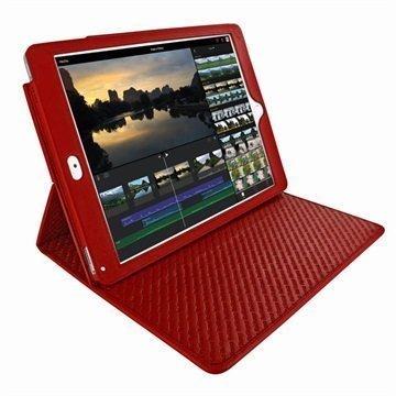 iPad Pro 9.7 Piel Frama Cinema Nahkakotelo Punainen