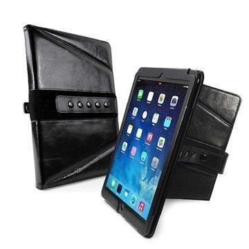 iPad Pro 9.7 Tuff-luv Tri-Axis Vintage Genuine Leather Case Black