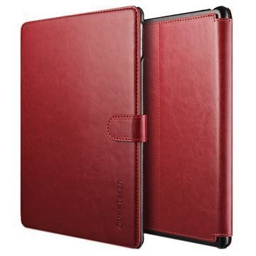 iPad Pro 9.7 VRS Design Layered Dandy Series Foliokotelo Viininpunainen / Musta