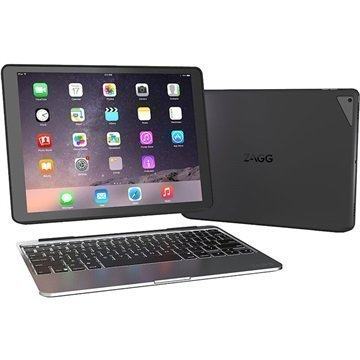 """iPad Pro Zagg Slim Book Bluetooth-näppäimistö- suojakotelo â"""" Musta"""