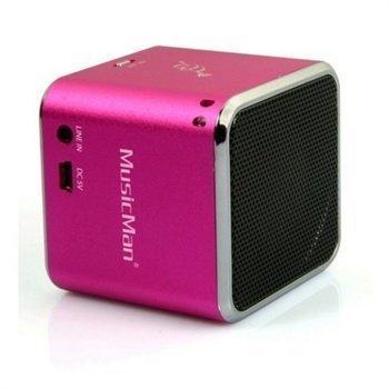 iPad iPhone iPod MusicMan BT-X2 Mobile Bluetooth Mini Speaker Pink