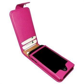 iPhone 3G / 3GS Piel Frama Classic Snap Nahkakotelo Fuchsia Verenpunainen