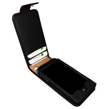 iPhone 3G / 3GS Piel Frama Classic Snap Nahkakotelo Musta