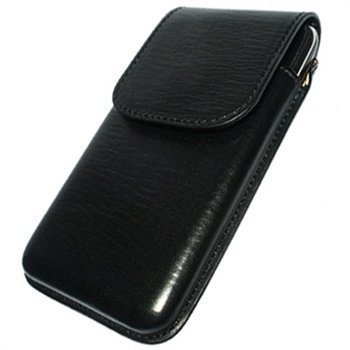 iPhone 3G / 3GS Piel Frama Unipur Nahkakotelo Musta