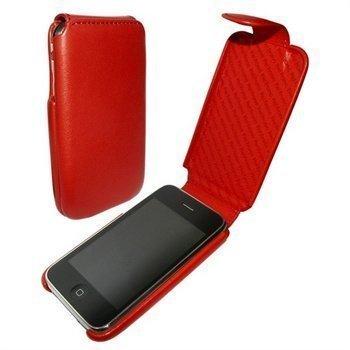 iPhone 3G / 3GS Piel Frama iMagnum Nahkakotelo Punainen