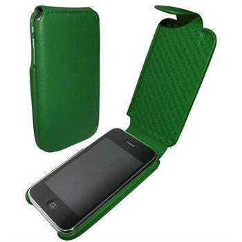 iPhone 3G / 3GS Piel Frama iMagnum Nahkakotelo Vihreä