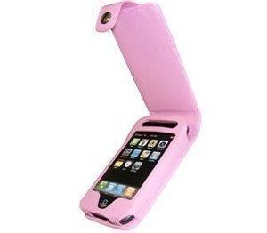 iPhone 3G 3GS iGadgitz Nahkainen Läppäkotelo Pinkki