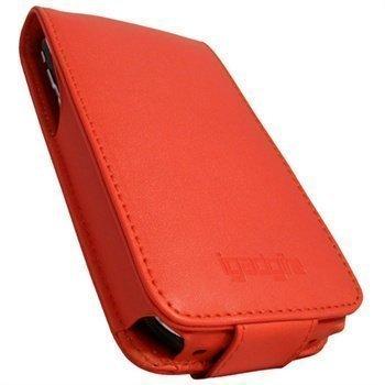 iPhone 3G 3GS iGadgitz Nahkainen Läppäkotelo Punainen