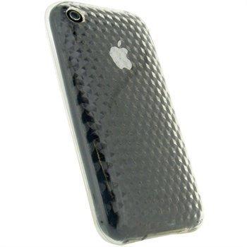 iPhone 3G 3GS iGadgitz Timantti TPU-Suojakotelo Selkeä