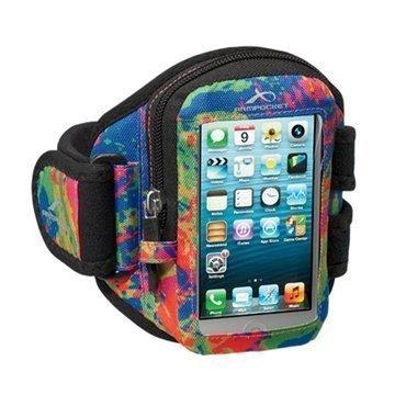 iPhone 4 / 4S Armpocket i-10 Käsivarsikotelo S Väriroiskeet