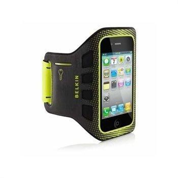 iPhone 4 / 4S Belkin EaseFit Käsivarsikotelo Musta / Kirkas Lime