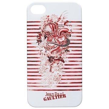 iPhone 4 / 4S BigBen Jean Paul Gaultier Kovakotelo Punainen / Valkoinen