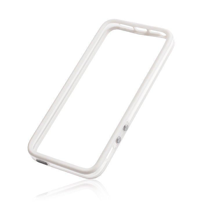 iPhone 4 / 4S Bumper suoja valkoinen / läpinäkyvä