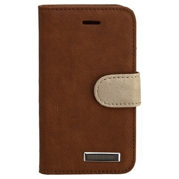 iPhone 4 / 4S Commander Leather Case Elite Brown