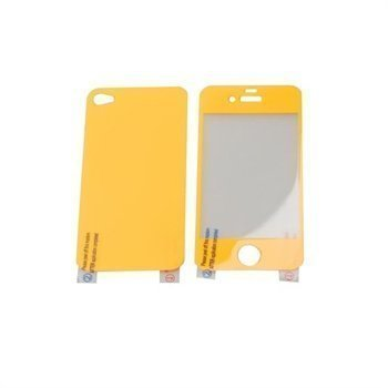 iPhone 4 / 4S Konkis Premium Screen Protector Neon Orange