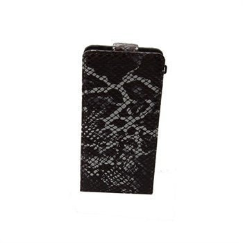 iPhone 4 / 4S Konkis Salto Viper Flipstyle Leather Case Black / White