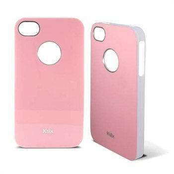 iPhone 4 / 4S Ksix K6 Kiinteä TPU-Kuori Vaaleanpunainen