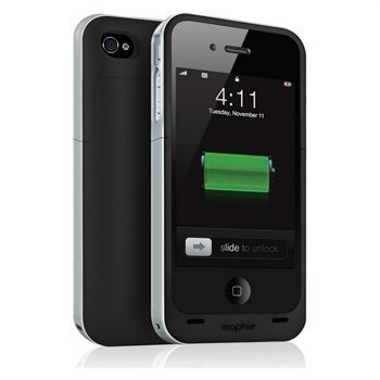 iPhone 4 / 4S Mophie Juice Pack Air Akkukotelo Musta