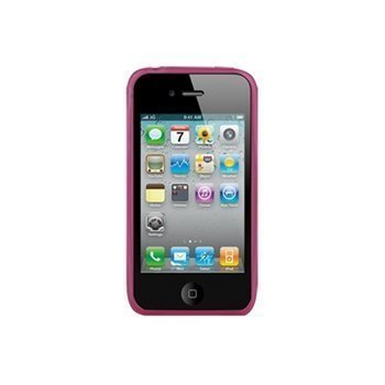 iPhone 4 / 4S Naztech Circular Silicone Case Transparent Pink