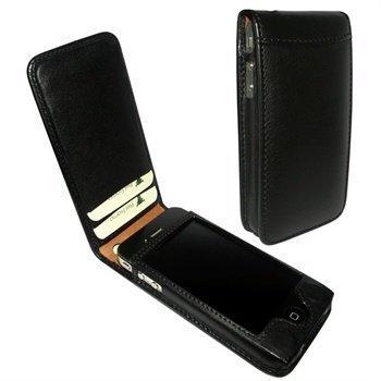 iPhone 4 / 4S Piel Frama Classic Magnetic Nahkakotelo Musta
