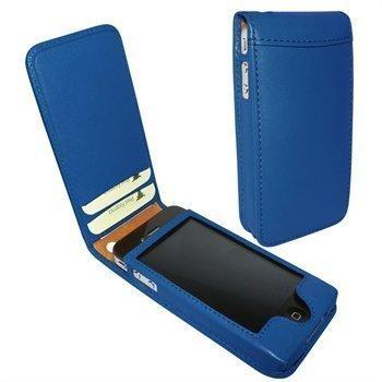 iPhone 4 / 4S Piel Frama Classic Magnetic Nahkakotelo Sininen