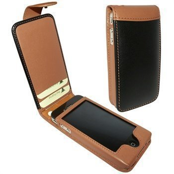 iPhone 4 / 4S Piel Frama Classic Snap Leather Case Black / Tan