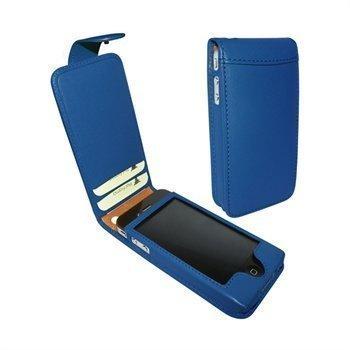 iPhone 4 / 4S Piel Frama Classic Snap Nahkakotelo Sininen