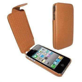 iPhone 4 / 4S Piel Frama iMagnum Nahkakotelo Parkittunahka