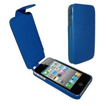iPhone 4 / 4S Piel Frama iMagnum Nahkakotelo Sininen