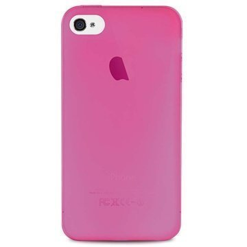 iPhone 4 / 4S Puro 0.3 Erittäin Ohut Silikonikotelo Vaaleanpunainen