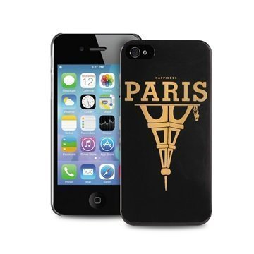 iPhone 4 / 4S Puro Happiness Paris Case Black
