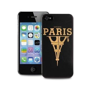 iPhone 4 / 4S Puro Happiness Paris Case Black