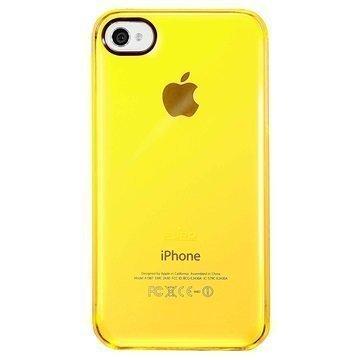 iPhone 4 / 4S Puro Kristallisuojakuori Keltainen Läpinäkyvä