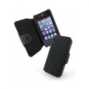 iPhone 4 / 4S Saddleback Nahkakotelo Musta