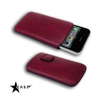 iPhone 4 / 4S StarCase Antique Leather Case Purple