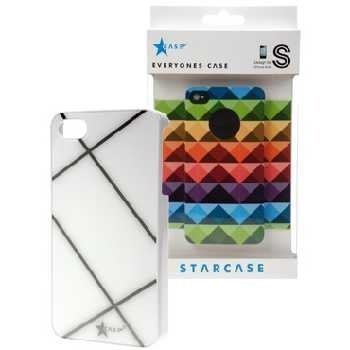iPhone 4 / 4S StarCase Cover Raster White