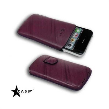 iPhone 4 / 4S StarCase Linea Leather Case Damson