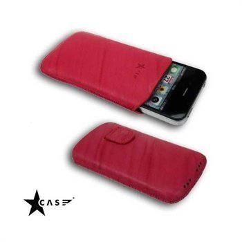 iPhone 4 / 4S StarCase Linea Leather Case Fuchsia