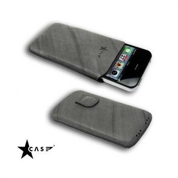 iPhone 4 / 4S StarCase Linea Leather Case Grey