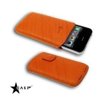 iPhone 4 / 4S StarCase Linea Leather Case Orange