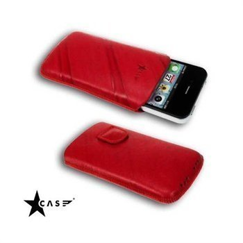 iPhone 4 / 4S StarCase Linea Leather Case Red